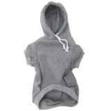 Grey Dog Hoodie - Gray Pet Sweatshirt Front