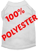 100% Polyester White Pet T-Shirt Blank