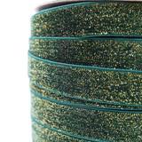 Evergreen glitter velvet ribbon detail