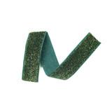 Evergreen glitter velvet ribbon detail 2