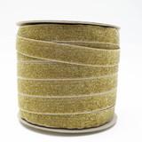 Wholesale Gold Glitter Velvet Ribbon