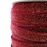 dark red wine glitter velvet ribbon close up