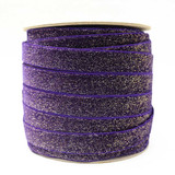 Purple Glitter Velvet Ribbon - Wholesale spool - Such Good Supply