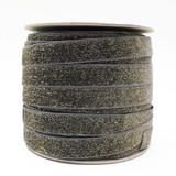 Dark Grey Glitter Velvet Ribbon Spool - Such Good Supply