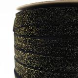 Black Golden Velvet Ribbon