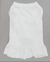 White dog dress front  white pet dress