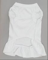 White dog dress back  white pet dress