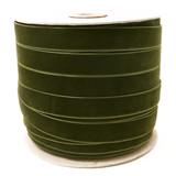 Wholesale Forest Green - Lodengrun Velvet Ribbon Spool Such Good Supply