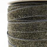 dark grey glitter velvet ribbon close up