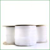 elastic white velvet ribbon spool