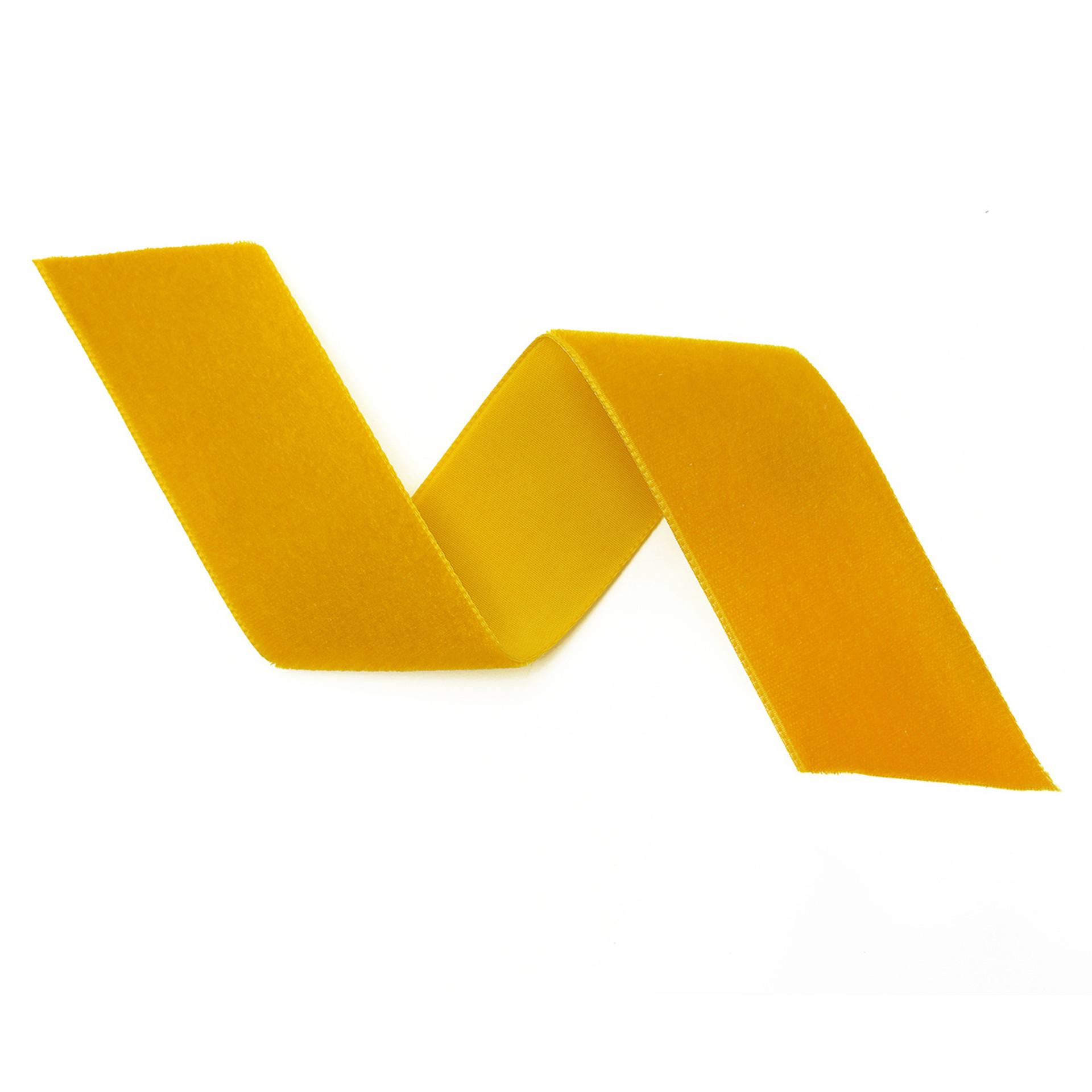 Gold Velvet Ribbon By The Yard