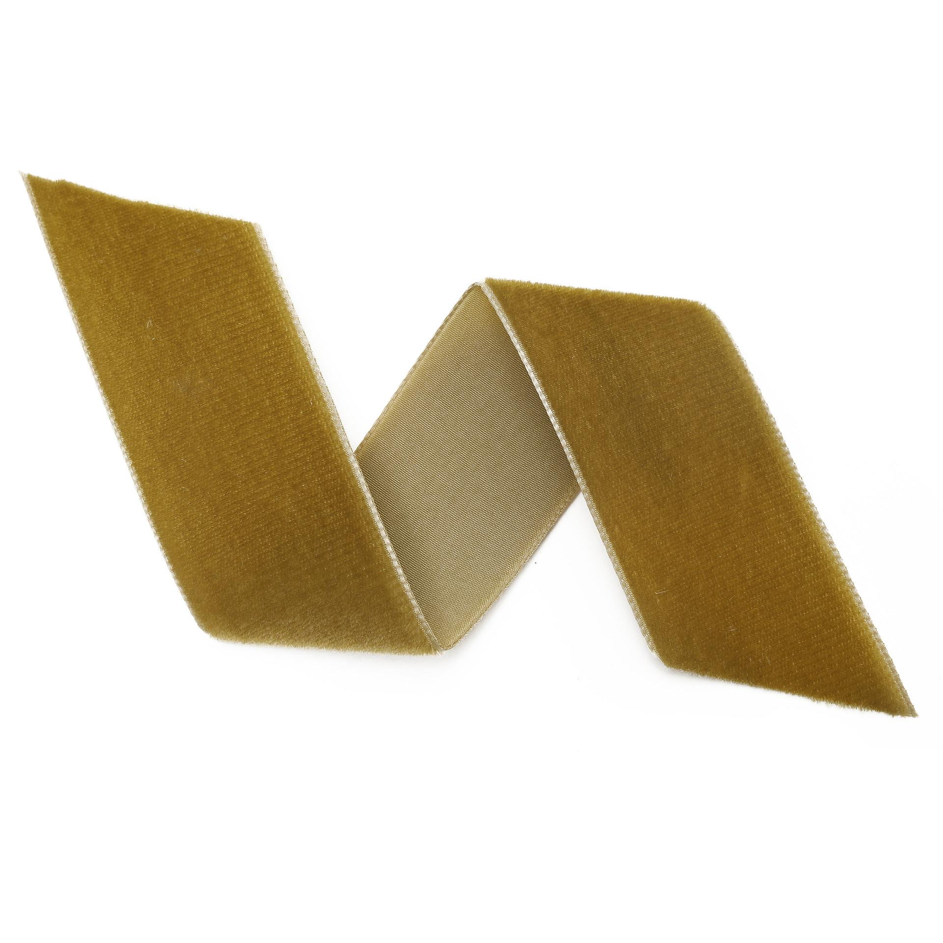 Vintage Gold Velvet Ribbon By The Yard