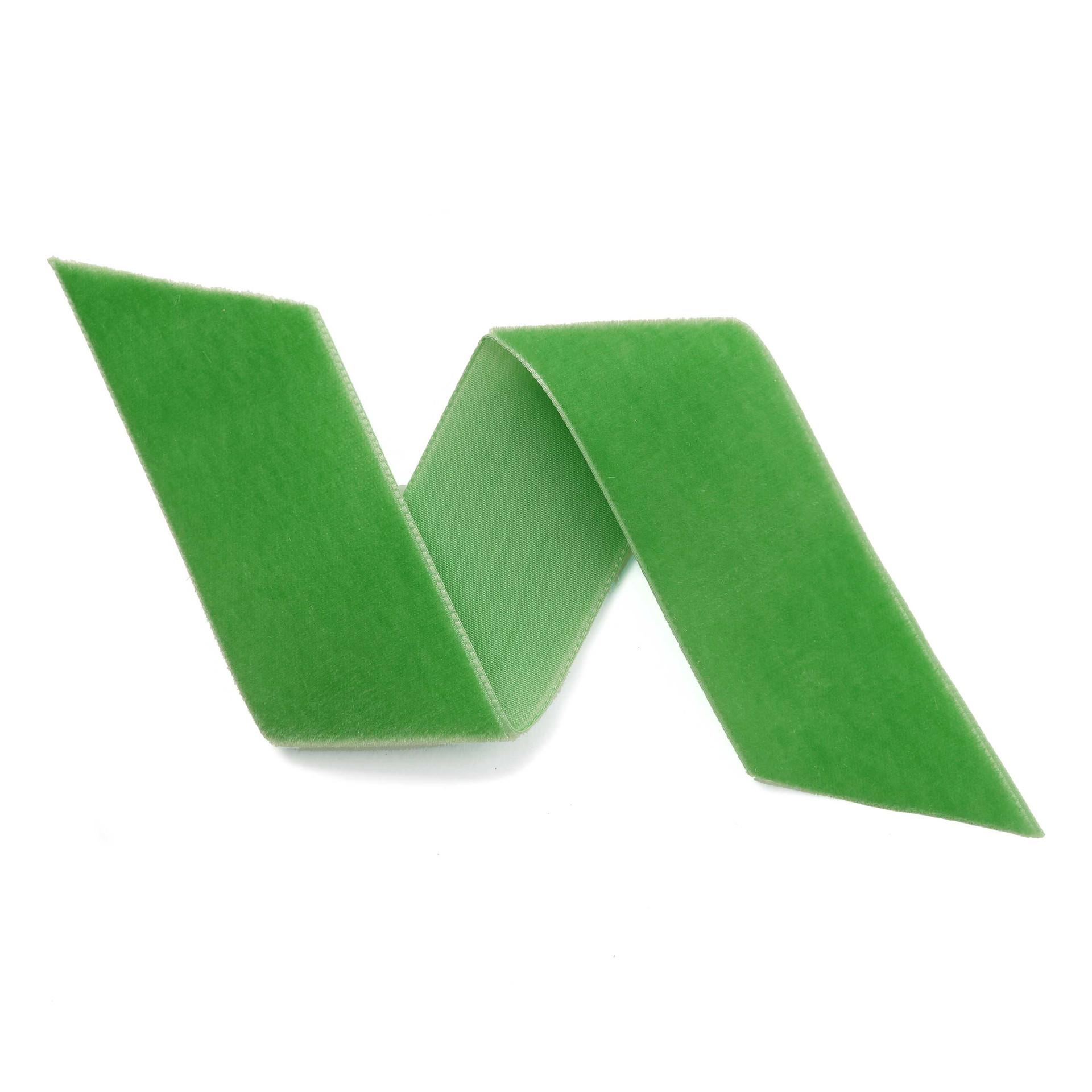 Jade Green Velvet Ribbon By The Yard