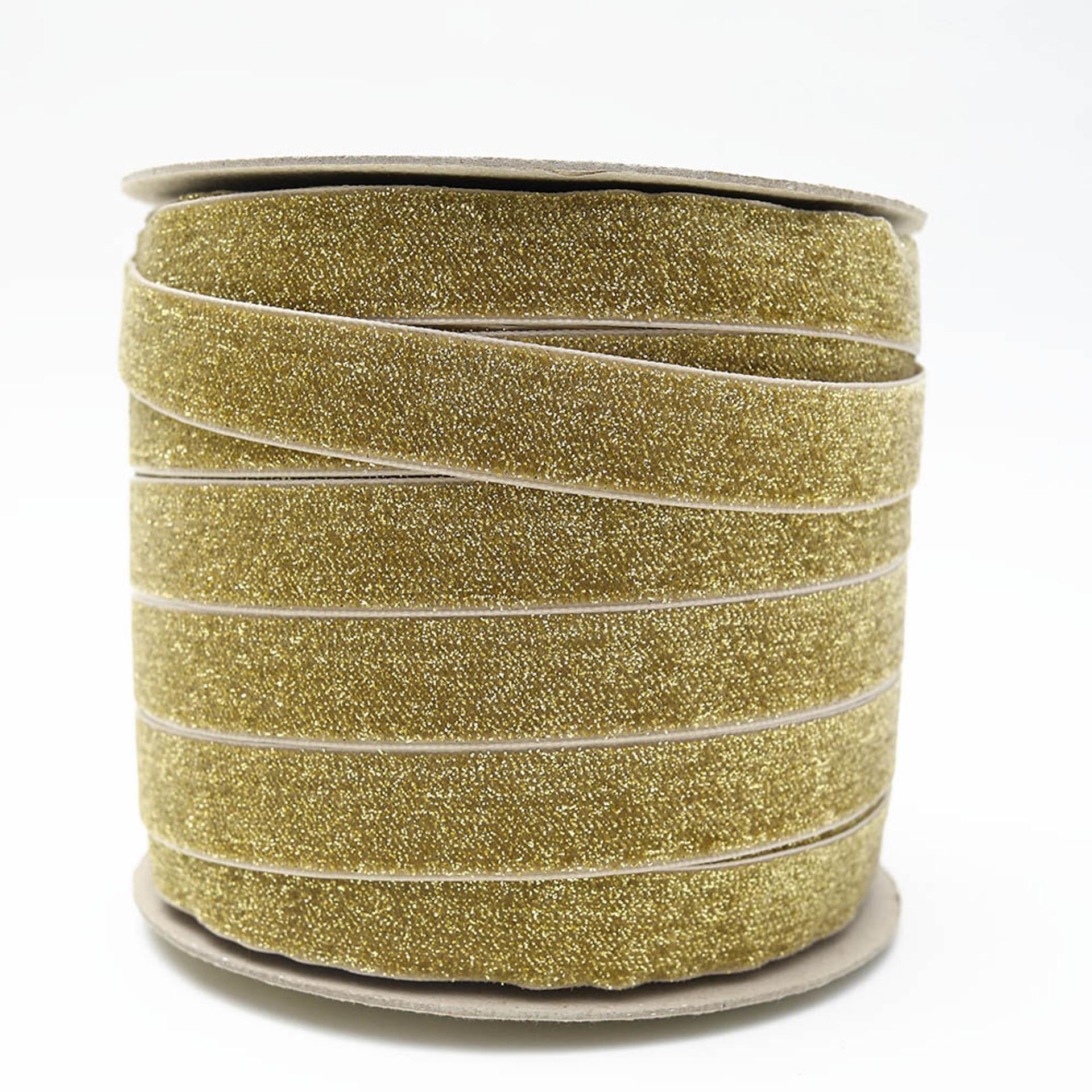Gold Golden Velvet Ribbon