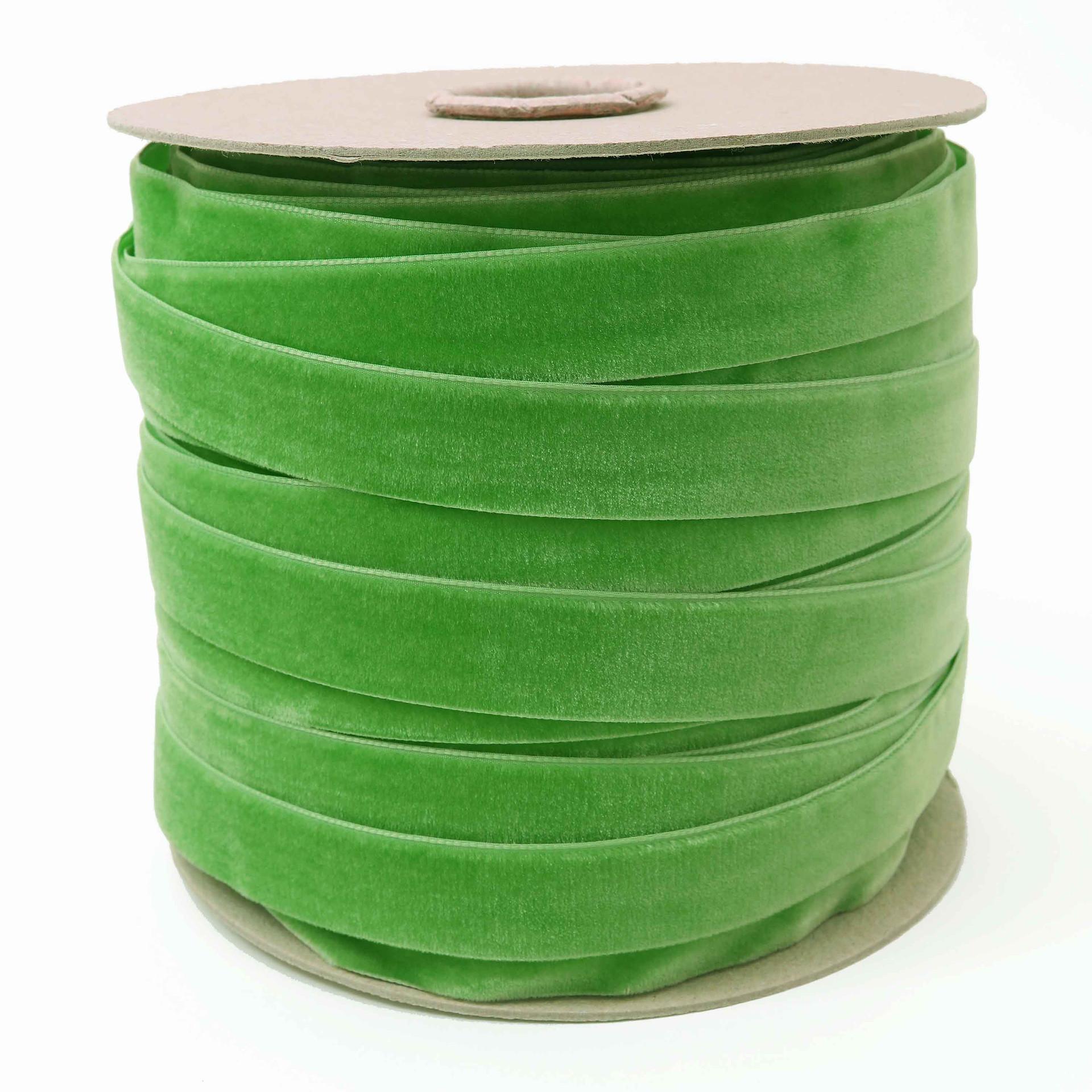 Wholesale Jade Green Velvet Ribbon