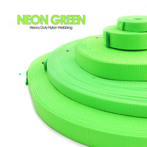 neon green nylon webbing by the yard