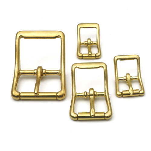 solid brass center bar buckle 1 inch brass buckle small brass buckle, large brass buckle