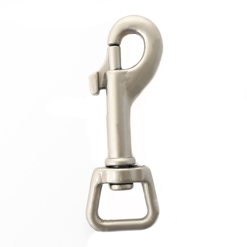 satin 5/8 inch snap hook five eights inch satin grey leash clip nickel plated swivel snap