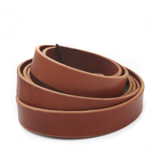 1 inch chestnut brown leather strip