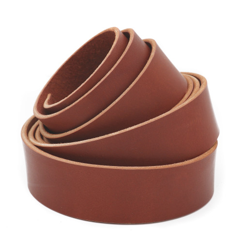 1.5 inch chestnut brown leather strip