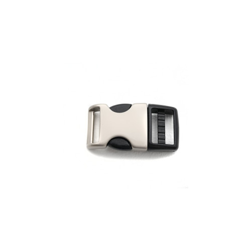 3/8 inch satin hybrid metal and plastic side release buckle