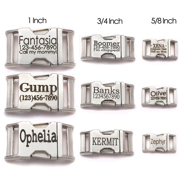 personalized engraved zinc diecast satin finished contoured side release buckles