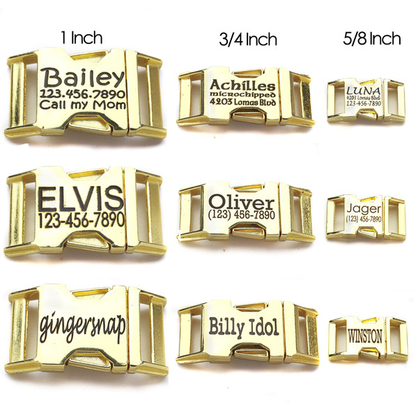 personalized engraved brass zinc die cast contoured side release buckles