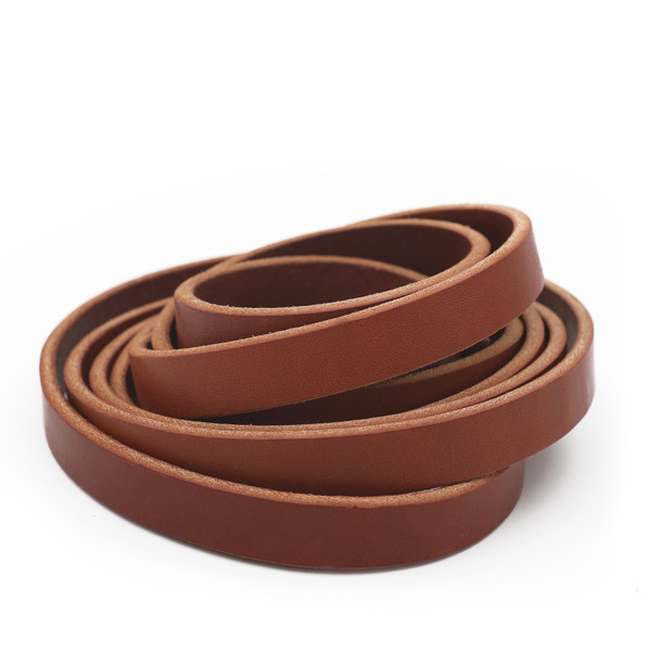 5/8 inch chestnut brown leather strip