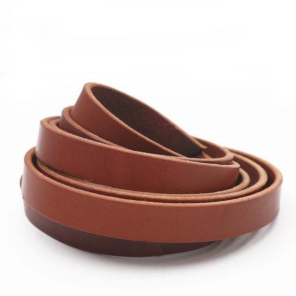 3/4 inch chestnut brown leather strip