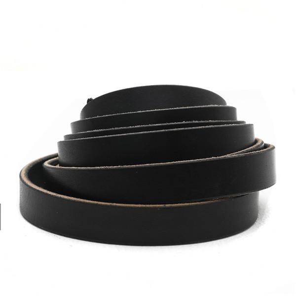 3/4 inch black leather strip