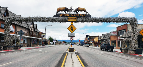 Afton WY - World's Largest Elkhorn Arch