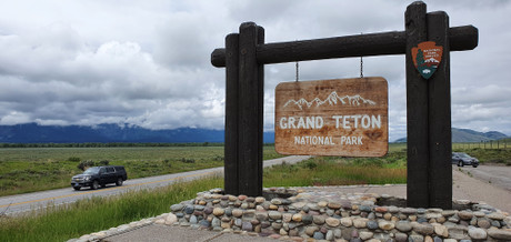 Driving thru Grand Teton National Park