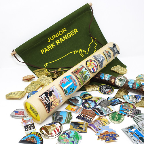 National Park Junior Ranger Badges Display Banner / Enamel Pin & Patch Organizer