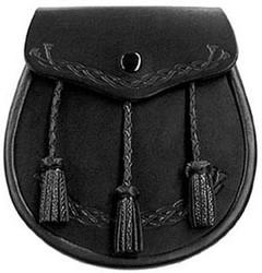 Thistle Embossed Leather Sporran