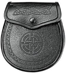 Angus Celtic Embossed Leather Sporran