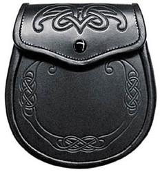Seamus Celtic Spiral Leather Sporran