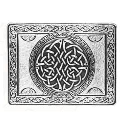 Rectangular Celtic Knot Belt Buckle