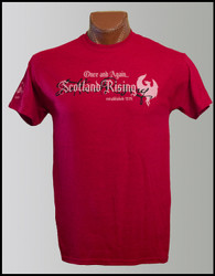 Antique Cherry Red Scotland Rising Motto short sleeve T-shirt