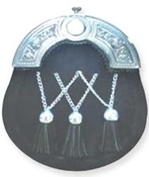 Black Traditional Cross Chain