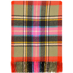 """These blankets are made from pure 100% lambswool, they are lightweight, soft and warm. Ideal as a throw for your home to lay over a bed or a sofa. Could even be used outdoors as a picnic rug or a blanket for spectating outdoor sports during the colder months. Blanket dimensions: 185cm x 140cm (72"""" x 56"""") including fringing. Dry clean only.  This name was adopted by the Bruce family when some of the Bruces of Clackmannan acquired land at Kinnaird in Stirlingshire. The Bruce of Kinnaird tartan was copied from a coat which is said to date from the mid-18th century. This was in the possession of the Bruces of Kinnaird. The present Lord Bruce decided to adopt this as the family tartan and had tartan woven from the setting of the old coat. This is now used in ordinary wear by the Elgin family."""