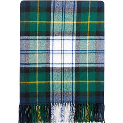 """These blankets are made from pure 100% lambswool, they are lightweight, soft and warm. Ideal as a throw for your home to lay over a bed or a sofa. Could even be used outdoors as a picnic rug or a blanket for spectating outdoor sports during the colder months. Blanket dimensions: 185cm x 140cm (72"""" x 56"""") including fringing. Dry clean only.  First recorded in Berwickshire in the 12th century, the Clan Gordon have, since the 14th century, been associated with Aberdeenshire. Sir Adam (Lord of Gordon) was given the Lordship of Strathbogie by King Robert the Bruce for services in battle. As a clan they were powerful and waged war against neighbouring clans, and their chief was called """"The Cock of the North"""". The Marquis of Huntly was Governor of Inverness Castle and his deputy, in 1562, refused Mary, Queen of Scots entry to that fortress. The Gordon Highlanders were raised in 1794 and Jane, Duchess of Gordon, who helped to obtain recruits, is traditionally said to have kissed each man as he enlisted. Aboyne Castle, in Aberdeenshire, is the home of the chief."""