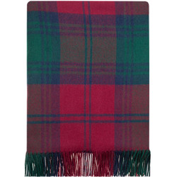 """These blankets are made from pure 100% lambswool, they are lightweight, soft and warm. Ideal as a throw for your home to lay over a bed or a sofa. Could even be used outdoors as a picnic rug or a blanket for spectating outdoor sports during the colder months. Blanket dimensions: 185cm x 140cm (72"""" x 56"""") including fringing. Dry clean only.  This family are of Norman descent and were found in the Border counties in the 12th century. Sir David Lindsay of Glenesk, who married a daughter of the Scottish king, was created Earl of Crawford in 1398. The 4th Earl, sometimes known as """"Earl Beardie"""", plotted against the Crown and was soundly defeated by the Earl of Huntly in 1452 and deprived of his lands and titles. He was later pardoned. His son, the 5th Earl, was created Duke of Montrose in 1488, the first Dukedom conferred on a Scot who was not of the Royal family. On his death in 1495 the Dukedom ended. The Lindsays were known as """"The Lightsome Lindsays"""". The seat of the Earl Crawford and Balcarres is at Balcarres in Fife."""