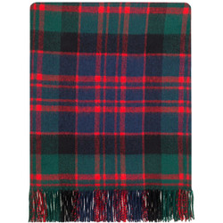 """These blankets are made from pure 100% lambswool, they are lightweight, soft and warm. Ideal as a throw for your home to lay over a bed or a sofa. Could even be used outdoors as a picnic rug or a blanket for spectating outdoor sports during the colder months. Blanket dimensions: 185cm x 140cm (72"""" x 56"""") including fringing. Dry clean only.  Descended from Donald, grandson of Somerled of the Isles, this is the oldest, and most famous, of all Scottish clans. The Lords of the Isles held sway over large territories and ruled as independent princes. They supported Bruce in his struggle for Independence, but their claim to the Earldom of Ross brought them into conflict with the Crown. After the Battle of Harlaw, in 1411, Alexander MacDonald was acknowledged Earl of Ross, but the title was forfeited in 1494. Many branches exist of this once all-powerful clan and with it, also, was associated numerous septs or """"broken clans"""" who took protection from them. The MacDonalds supported the Royal Stuarts, and their prowess in battle and in clan feuds made them feared and respected."""