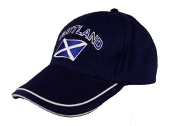Scotland Curved Flag Baseball Cap