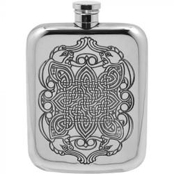 [CEL126] 6oz Pewter Hip Flask