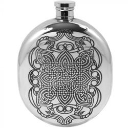 [CEL130] 6oz Pewter Hip Flask