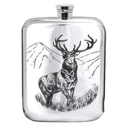 [TSF608] 6oz Pewter Hip Flask
