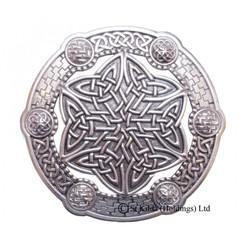 Plaid Brooch Celtic Key