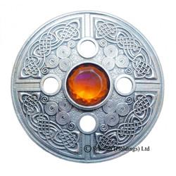 Plaid Brooch Celtic Spiral