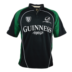 Guinness Black and Green Short Sleeve Performance Rugby Jersey